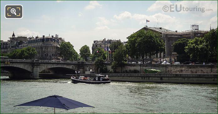 AAS Fuel Barge On River Seine Paris