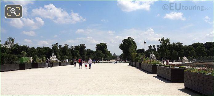 Garden Within The Tuileries Paris
