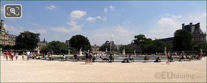 Tourists In Tuileries Gardens Paris