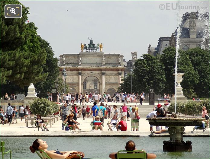 Tuileries Gardens And Tourists