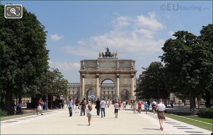 Tourists And The Arc de Triomphe du Carrousel