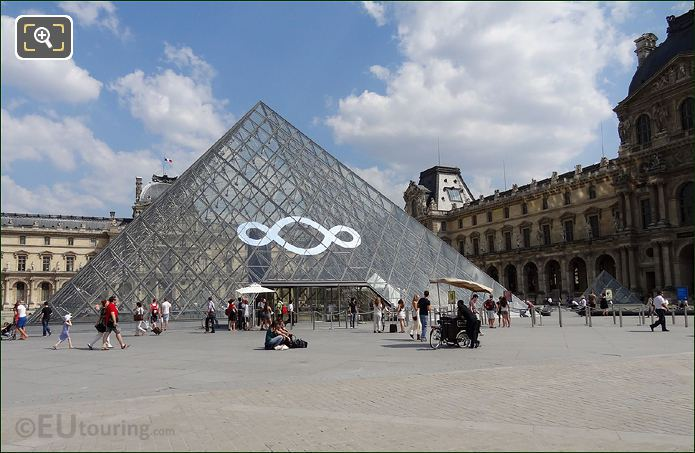 Infinity Symbol On The IM Pei Pyramid
