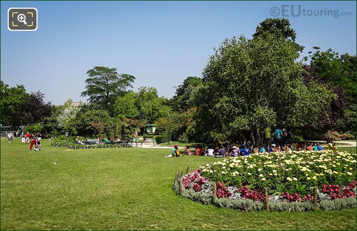 School Outing In The Champ De Mars Gardens
