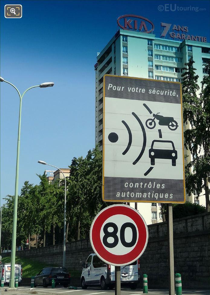 Road Side Signpost In Paris