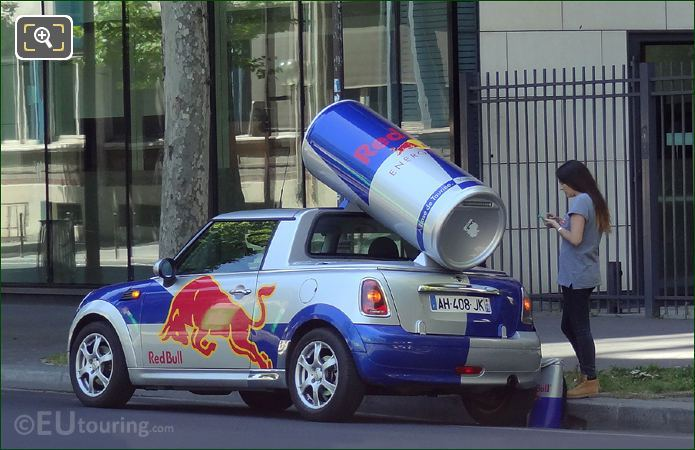 Hazard Lights Red Bull Mini Paris