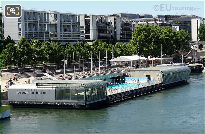 hd photo of the piscine josephine baker swimming pool