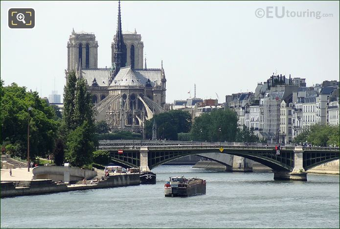 Cargo Barge On River Seine