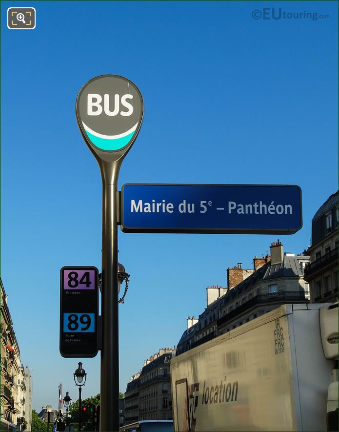 Mairie Du 5e - Pantheon Bus Stop For Buses 84 And 89