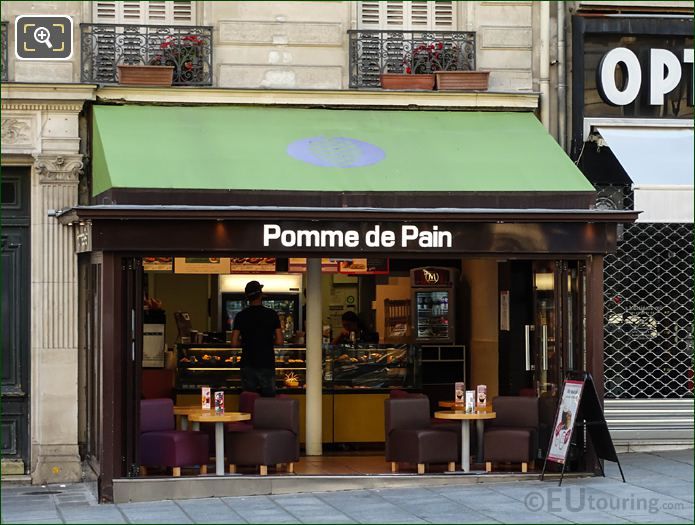 Pomme De Pain Cafe On Rue Soufflot In Paris