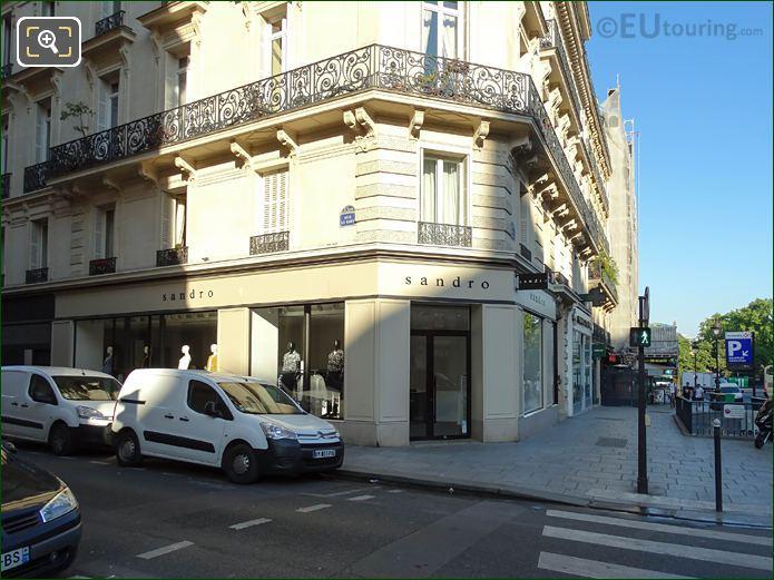 Sandro Boutique On Rue Le Goff In Paris
