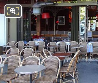 Luxembourg Outside Seating Area On Boulevard Saint-Michel