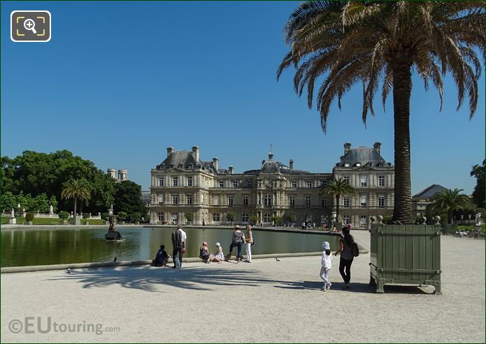 Tourists In Jardin Du Luxembourg