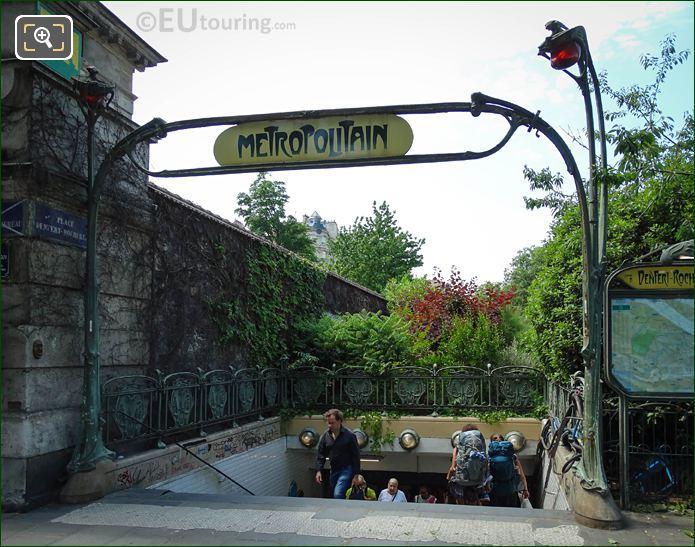 Denfert-Rochereau Metro Entrance On Avenue Du General Leclerc