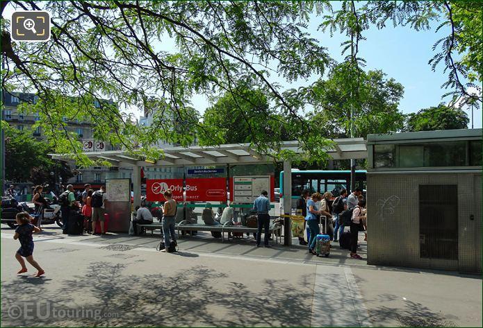 OrlyBus Stop On Place Denfert-Rochereau