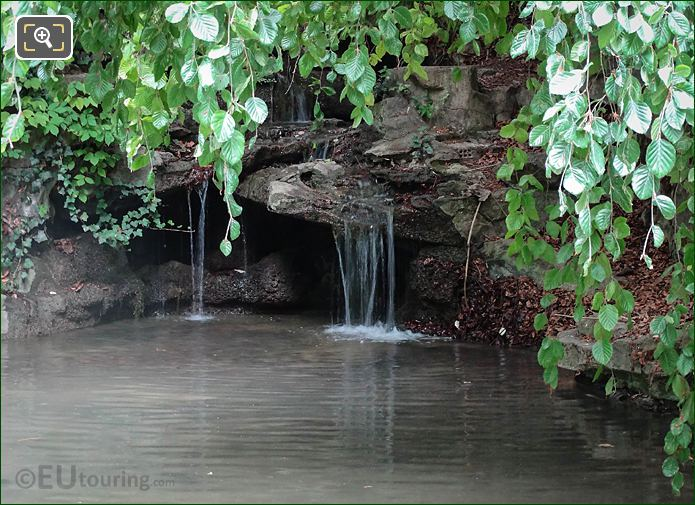 Hidden Waterfall In Jardin De La Nouvelle France