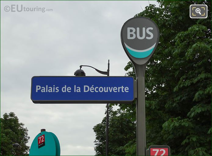 Palais De La Decouverte Bus Stop For Paris Bus 72