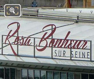 Sign Rosa Bonheur Sur Seine On Roof