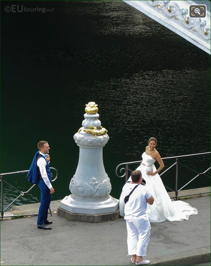 Wedding Photos Taken At The Pont Alexandre III