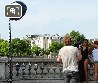 Photographer, Equipment For Photo Shoot On Pont Alexandre III