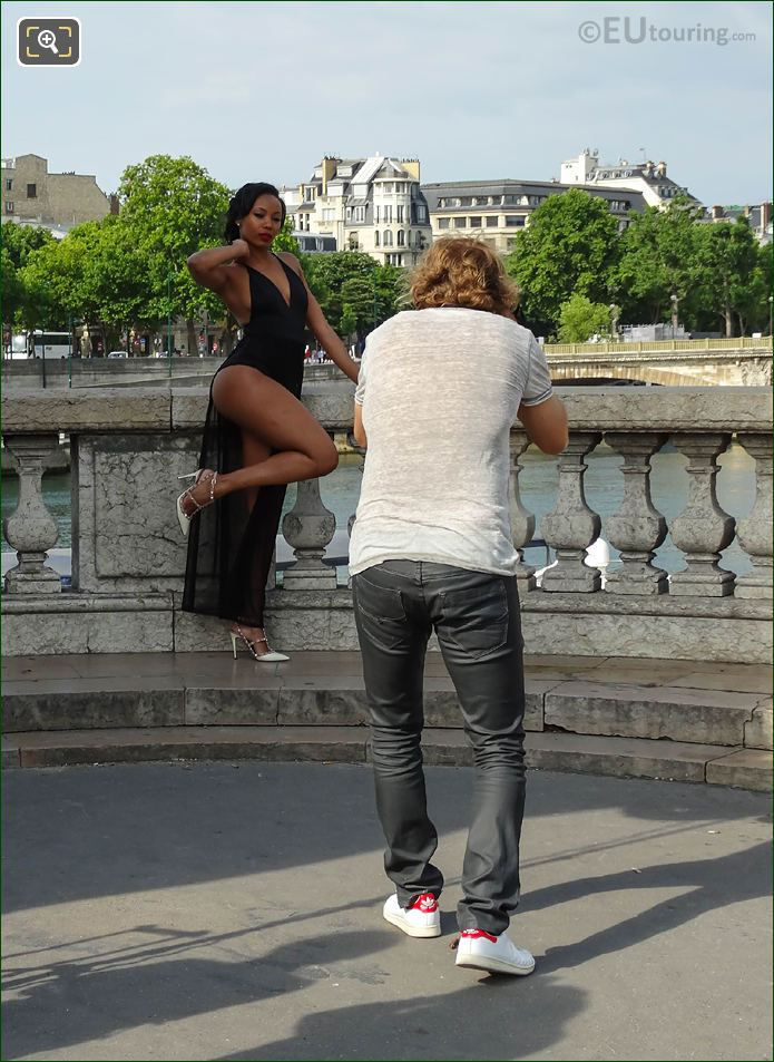 Paris Model And Photographer On Glamour Photo Shoot
