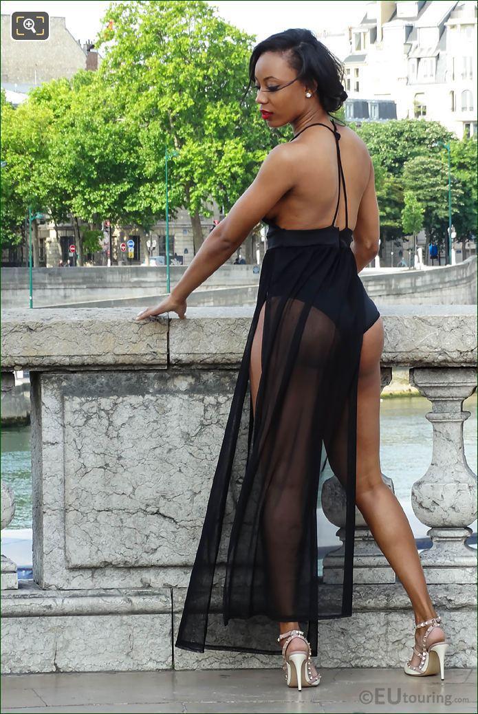Glamour Model Wearing lingerie On Photo Shoot Paris