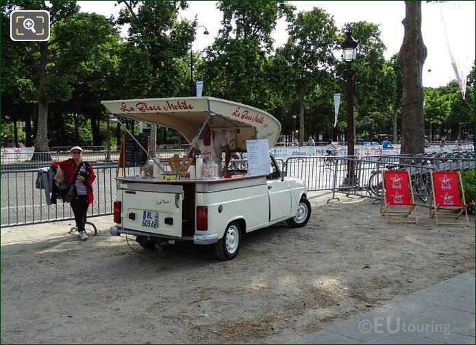 La Glace Mobile Selling Ice Creams Champs Elysees Avenue