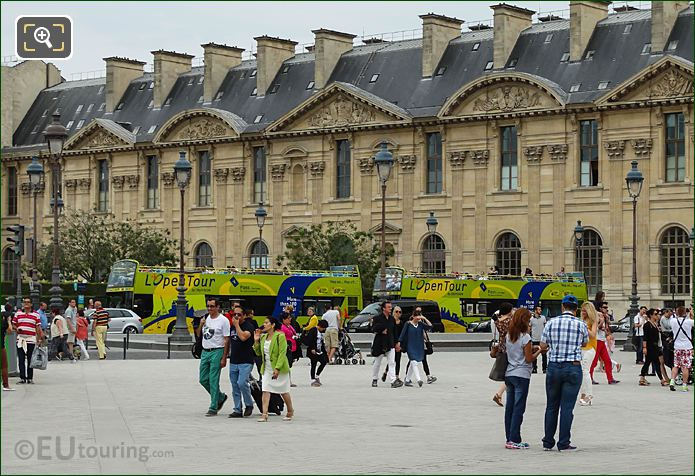 Two L'OpenTour Buses In Place Du Carrousel