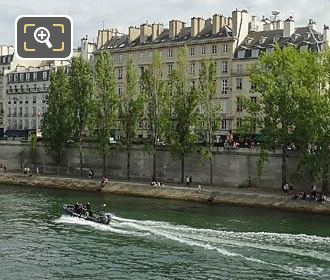 Police Boat On River Seine 1st Arrondissement Paris