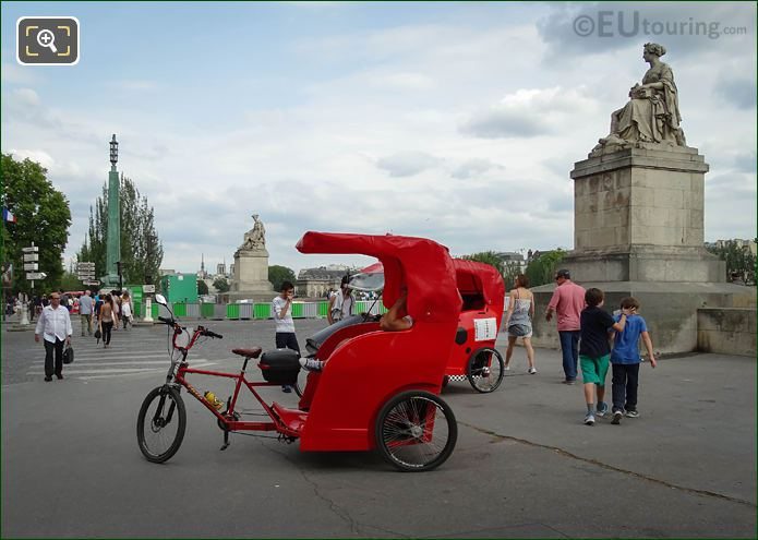 Rickshaws Next To Pont Du Carrousel Paris
