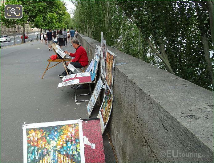 Artist Painting While On Quai Francois Mitterrand