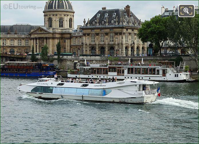 Canauxrama Cruise Boat Henri IV Passing Institut De France