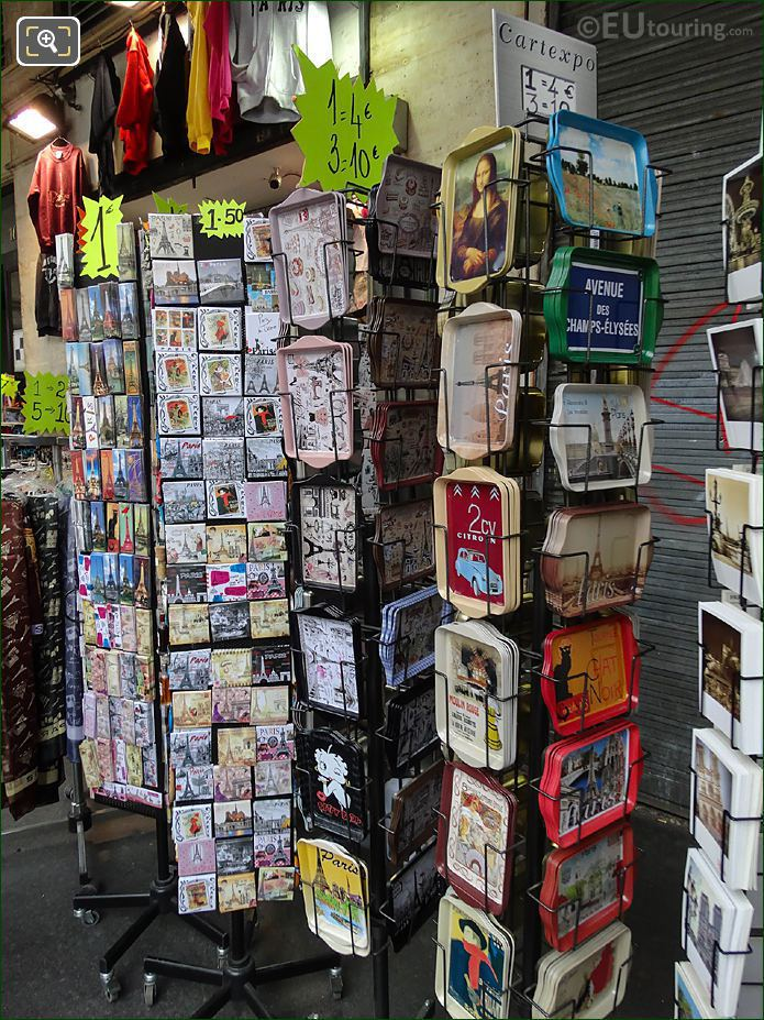Postcards For Sale At Paris Rivoli Gift Shop