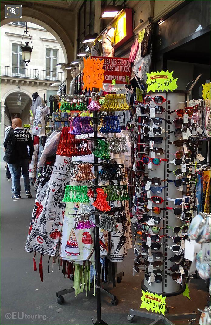 Sunglasses, Key Rings For Sale Paris Rivoli Gift Shop