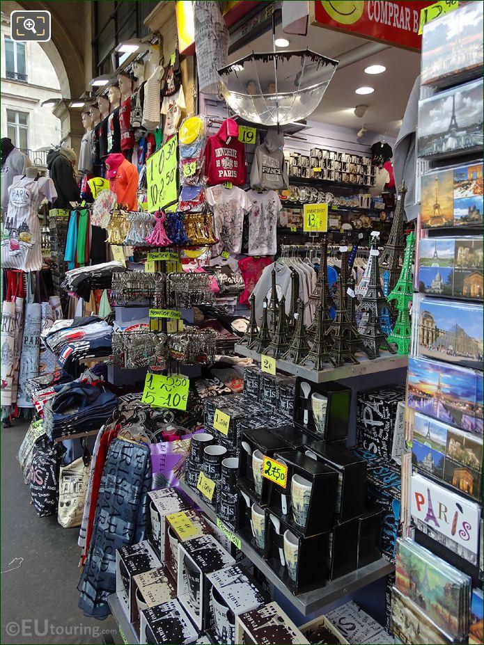 Paris Gift Shop On Rue De Rivoli Close To Louvre