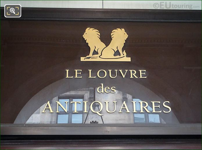 Louvre Des Antiquaires Name Above Doorway