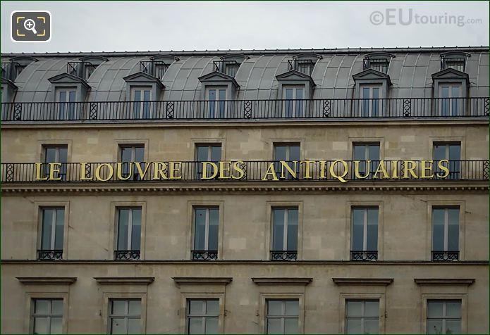 Name On West Facade Louvre Des Antiquaires