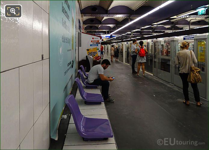 Metro Station Platform Palais Royal - Musee Du Louvre
