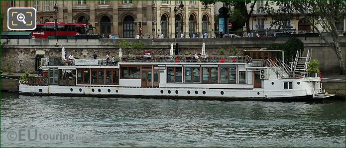 La Balle Au Bond Floating Restaurant At Quai Malaquais