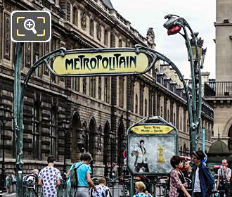 Paris Metro Entrance At Palais Royal