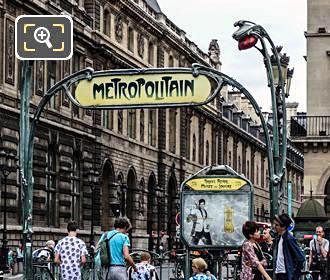 Paris Metro Entrance At Palais Royal