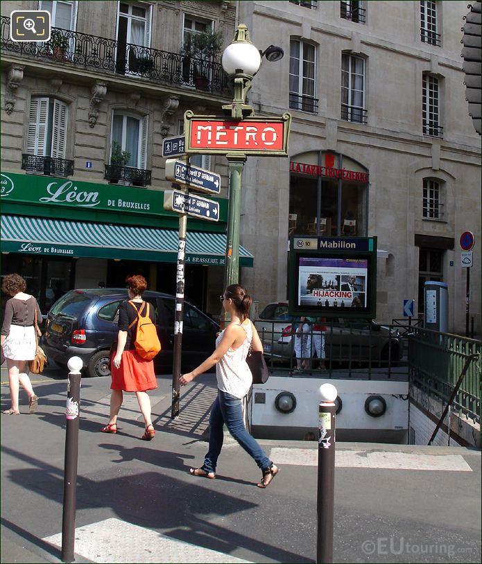 Mabillon Metro Station In Paris