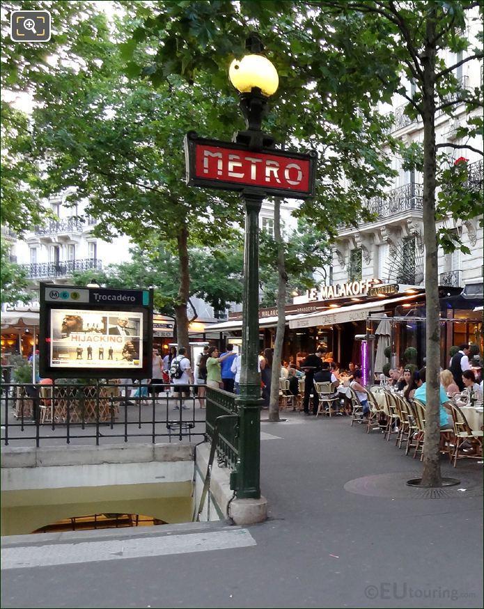 The Trocadero Metro Stop