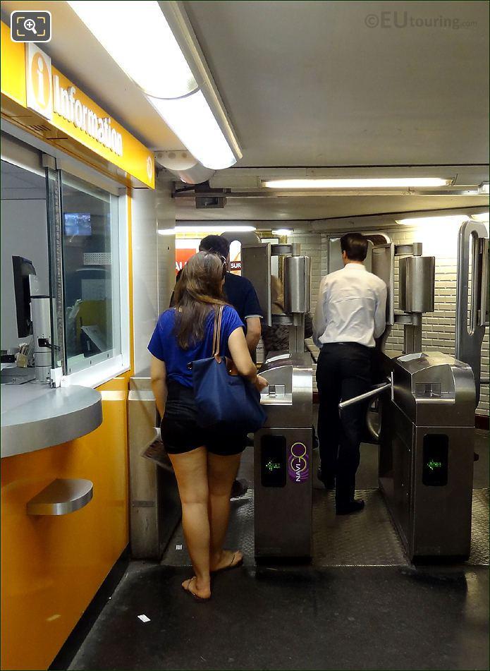 Paris Metro Turnstiles
