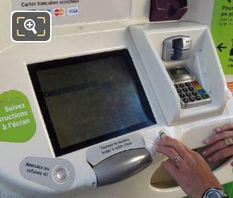 Paris Metro Automated Ticket Machine