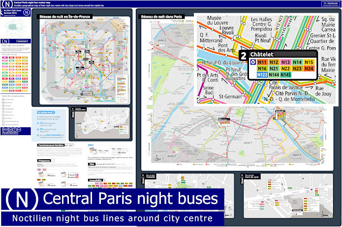 Ile-de-France Geo Map Noctilien Night Buses