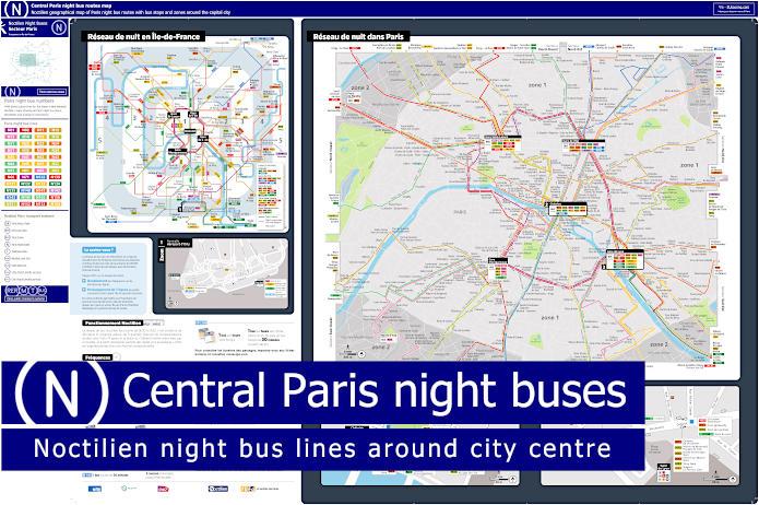 Ile-de-France Geo Map Noctilien Night Buses