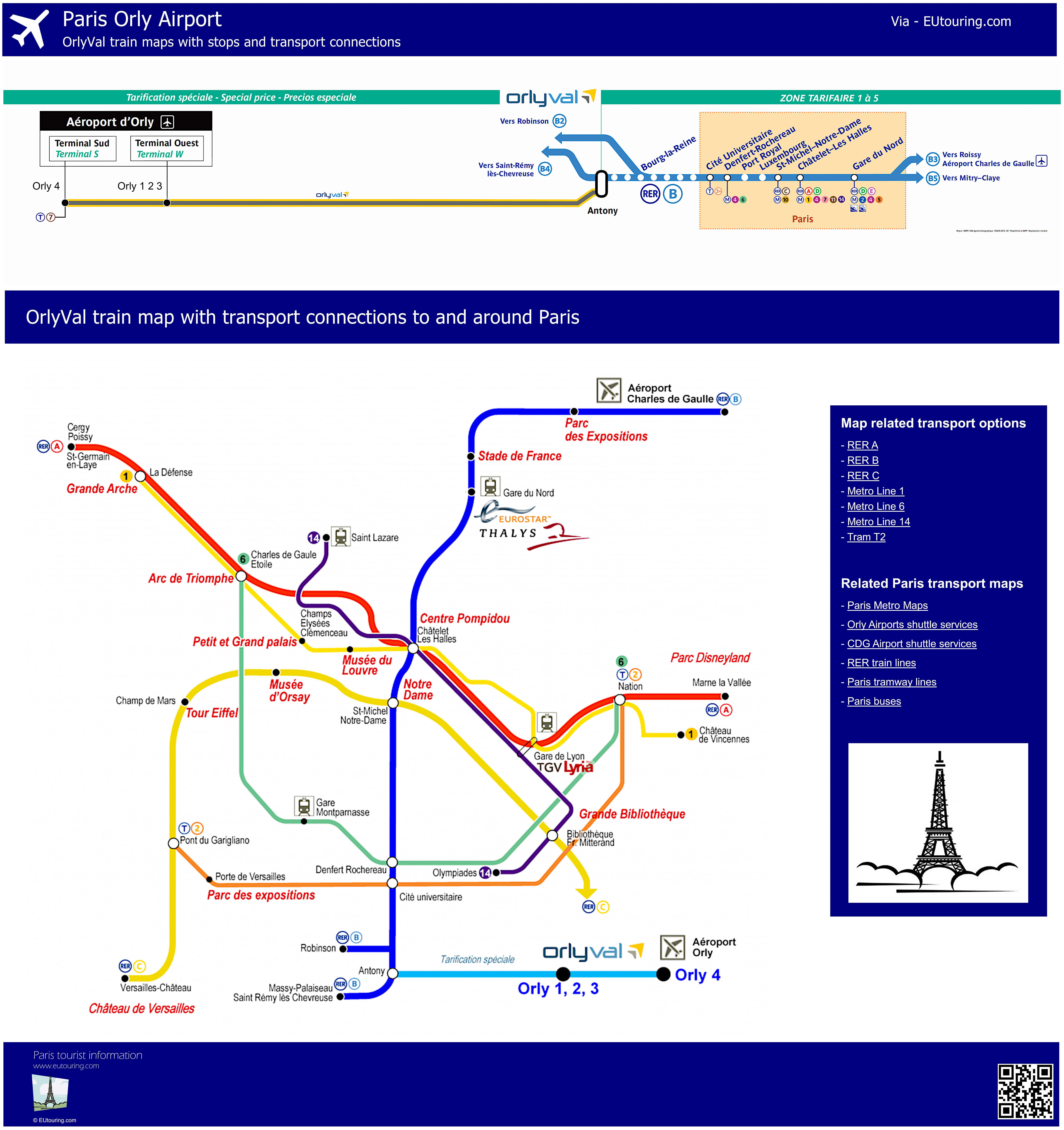 Aeroporto Orly : Public transport and bus shuttle services for orly airport in paris
