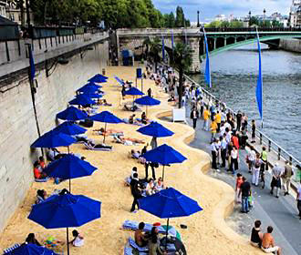 River Seine And Paris Plages