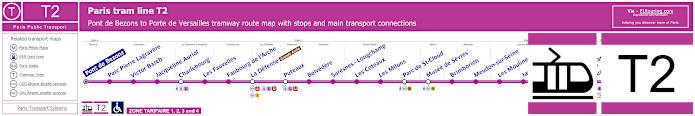 Map Of Paris Tram Line T2
