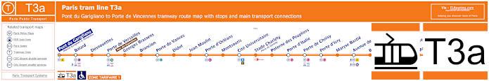 Map Of Paris Tram Line T3a